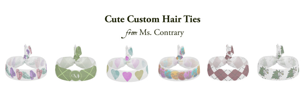 hair ties collection header for Zazzle