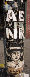 Lucky Luciano, St Mark's Place, NYC - by The Mosaic Man