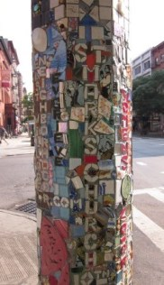 St Mark's Church, East Village, NYC - by The Mosaic Man