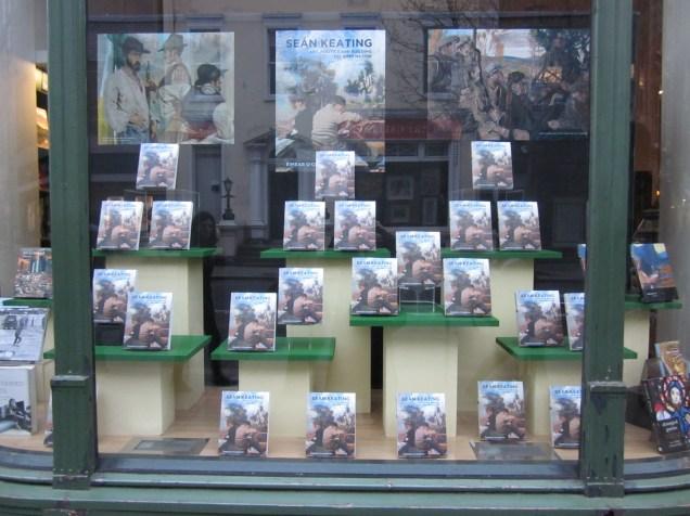 Seán Keating: Art, Politics and Building the Irish Nation - on display in the window of Hodges Figgis Bookshop, Dawson Street, Dublin, April 2013.