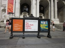 Outside New York Public Library