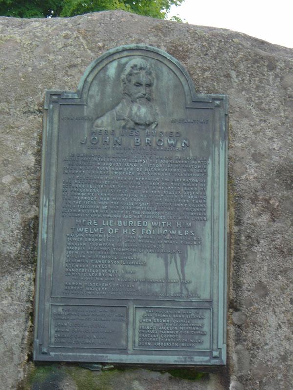 Brown burial plaque