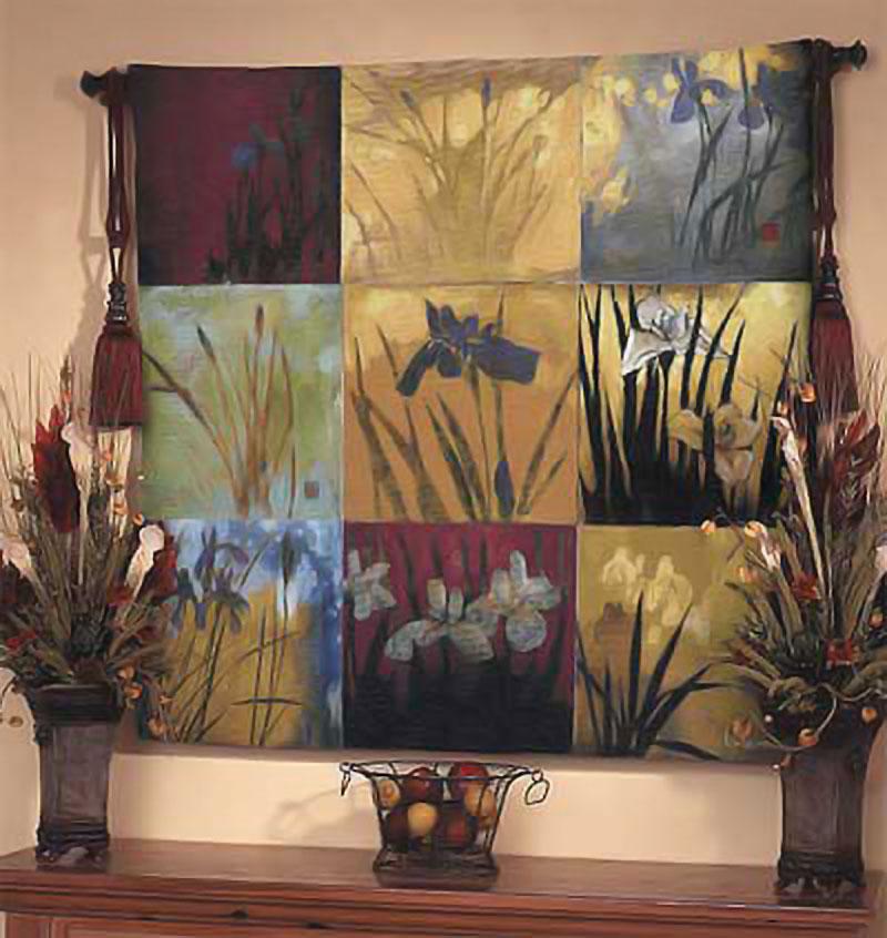 Wall Tapestries | Iris Nine Patch II | Don Li-Leger