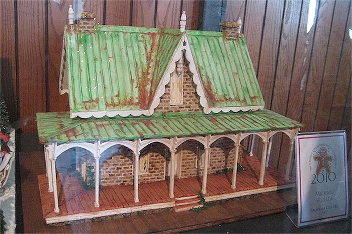 Copper Roof Gingerbread Farmhouse