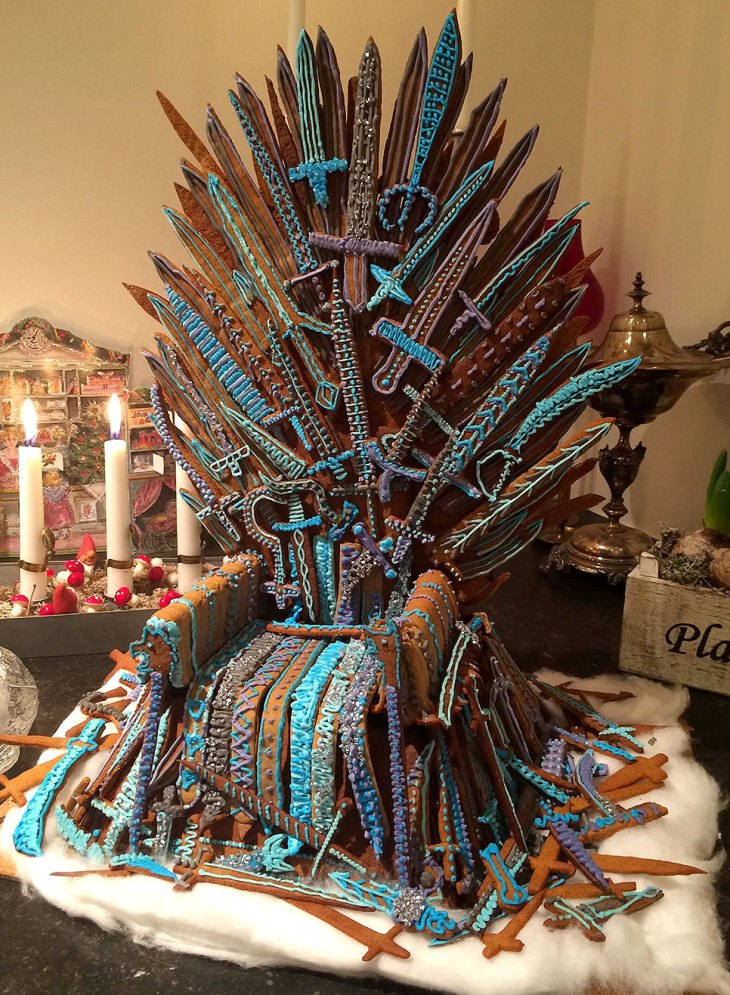 Game of Thrones Iron Throne Gingerbread