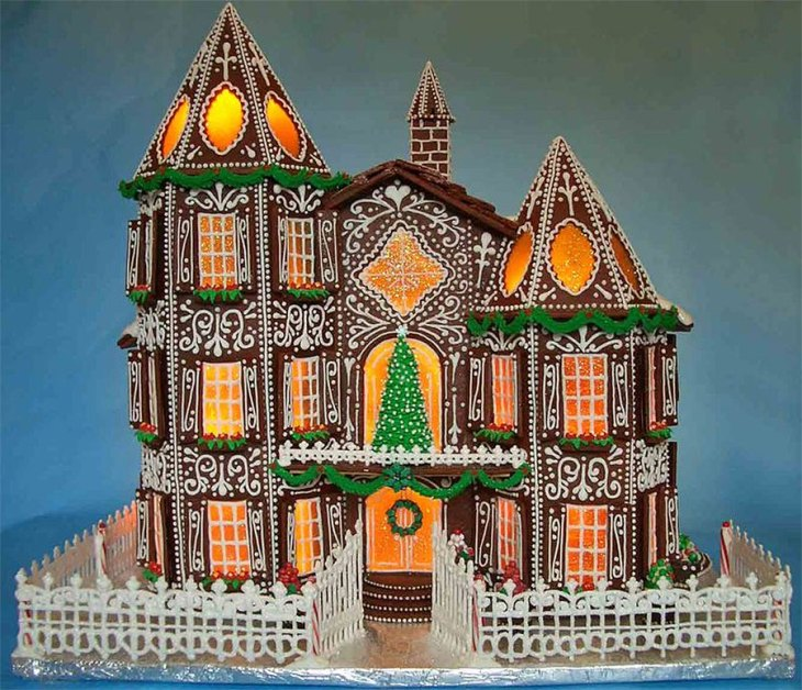 Gingerbread Manor Home