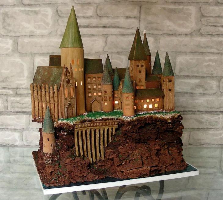 Harry Potter Hogwarts Gingerbread House