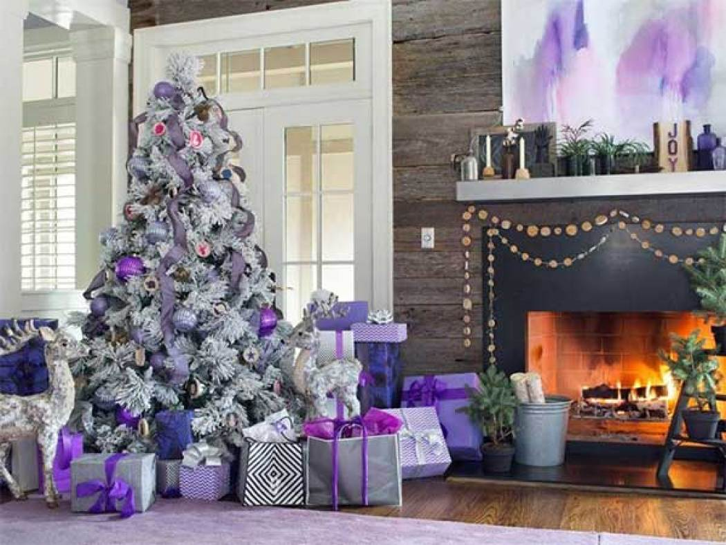 A Lavender Christmas Tree