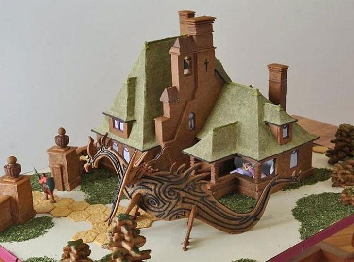 Sleeping Beauty Gingerbread House