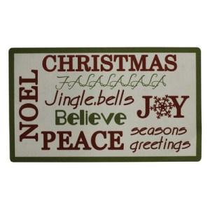 Attraction Design Home   Christmas Trimmed Doormat