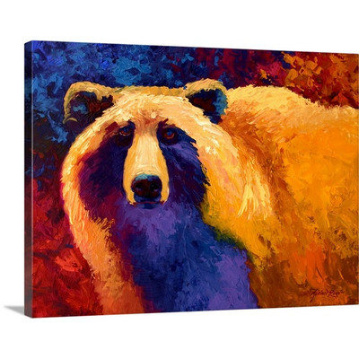 Abstract Grizzly II by Marion Rose Art Print on Canvas