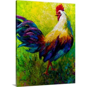 CEO Rooster by Marion Rose Art Print on Canvas