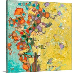 Birthday Bouquet by Jennifer Lommers Art Print on Canvas
