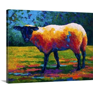Suffolk Ewe III by Marion Rose Art Print on Canvas