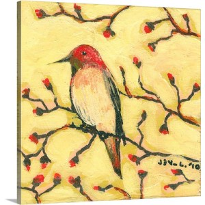 First Hummingbird by Jennifer Lommers Art Print on Canvas