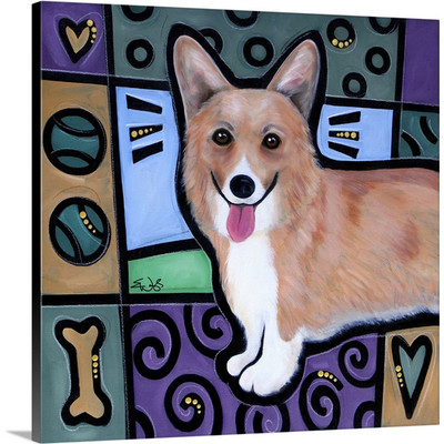Corgi Wall Art by Eric Waugh