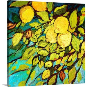 Lemon Tree Fun by Jennifer Lommers Art Print on Canvas