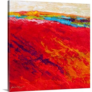 Abstract Landscape IV by Marion Rose Art Print on Canvas