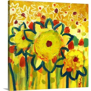 Amongst the Sunflowers No. 1 by Jennifer Lommers Art Print on Canvas