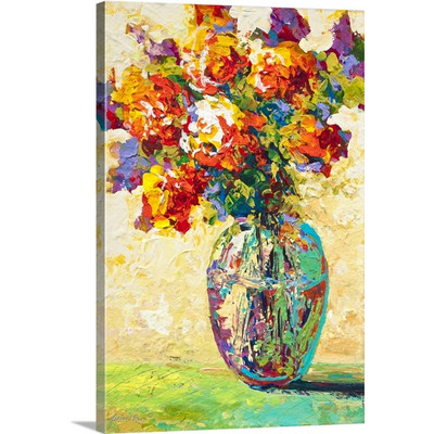 Abstract Bouquet IV by Marion Rose Art Print on Canvas