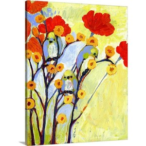 Under the Poppies by Jennifer Lommers Art Print on Canvas