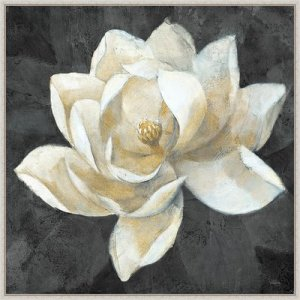Majestic Magnolia Framed Canvas Art Print