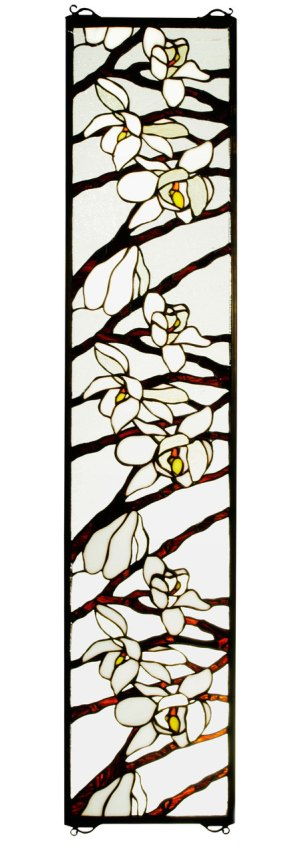 "Magnolia | Stained Glass Panel | 9"" W X 42"" H"