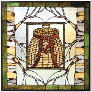 "Adirondack Basket | Stained Glass Window | 24.5"" X 24.5"""