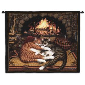Charles Wysocki Cat All Burned Out | 34 x 26 | Tapestry