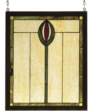 "Spear | Tiffany Stained Glass Panel | 14"" X 17"""