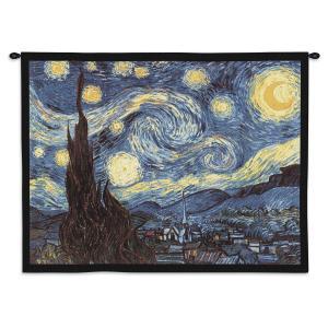 "Van Gogh's Starry Night | 34"" x 26"" | Tapestry"