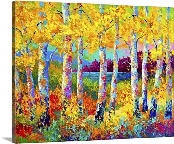 Autumn Jewels by Marion Rose Painting Print on Canvas