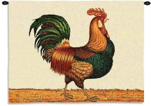 Rooster by Charles Wysocki | Wall Tapestry | 34 x 26