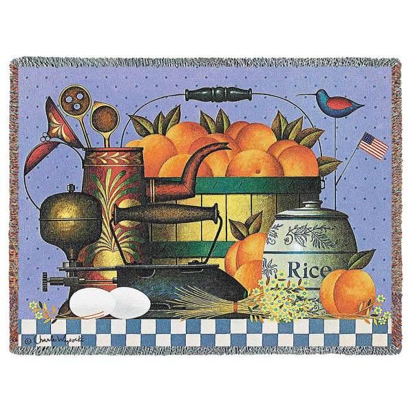 Peaches by Charles Wysocki | Throw Blanket | 70 x 54