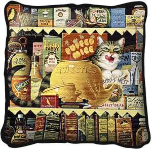 Ethel the Gourmet by Charles Wysocki | Throw Pillow | 17 x 17