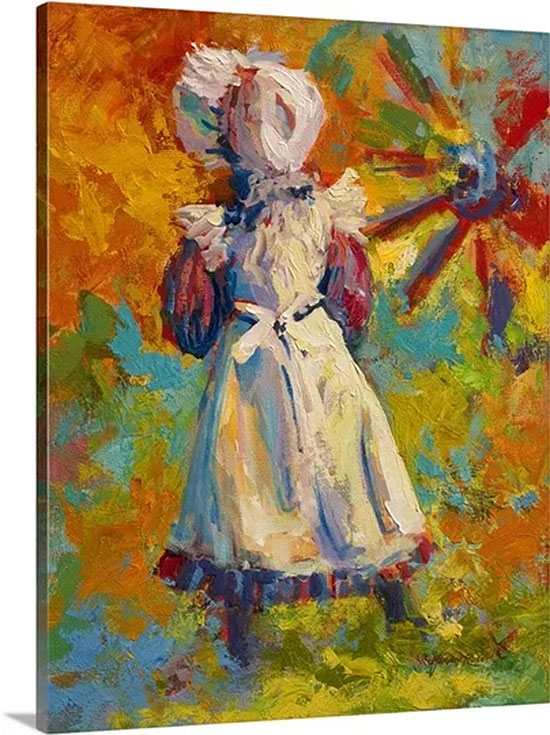 Country Girl by Marion Rose Painting on Canvas