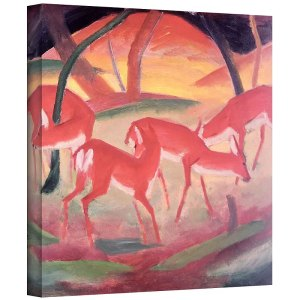 Deer by Franz Marc Painting Art Print on Canvas