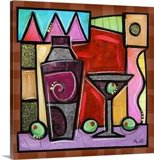 Martini Celebration by Eric Waugh Painting Print on Canvas