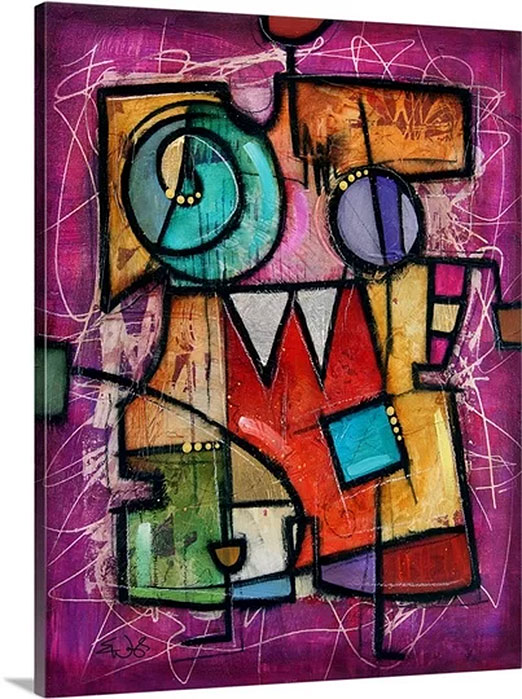 Violeto I by Eric Waugh Art Print on Canvas