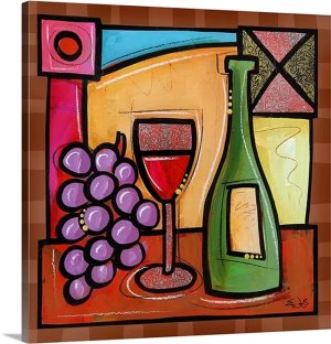 Wine Celebration by Eric Waugh Art Print on Canvas
