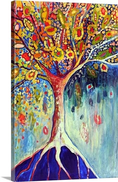 Fiesta Tree by Jennifer Lommers Art Print on Canvas