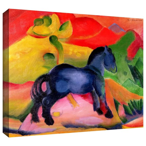 Little Blue Horse by Franz Marc Painting Print on Canvas