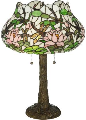 "22.5"" H Dragonfly Flower Table Lamp"