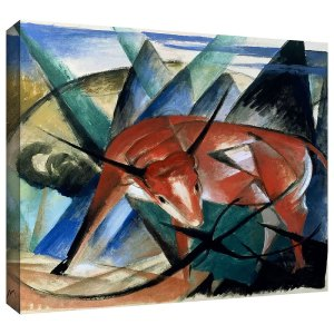 Red Bull Franz Marc Painting Print on Canvas