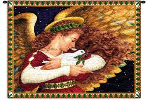 Angel and Dove | Christmas Tapestry | 26 x 34