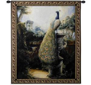 Luogo Tranquillo Peacock Garden Tapestry | 32 x 26