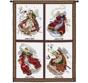 Celestial Angel | Christmas Tapestry | 34 x 26