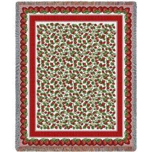 Strawberry Festival | Cotton Throw Blanket