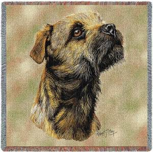 Border Terrier Breed Portrait | Throw Blanket | 54 x 54