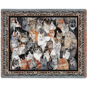 Purrfect Cats | Afghan Blanket | 70 x 54